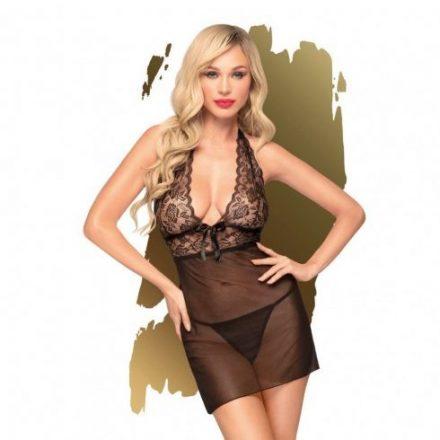 Fekete-edes-kisertes-szexi-csipke-ruha-L/XL