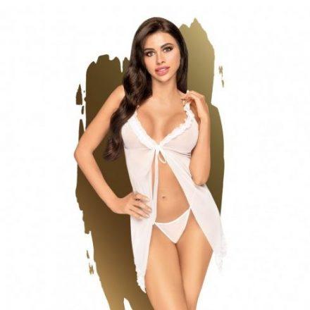 Naplemente-utan-feher-szexi-atlatszo-ruha-L/XL