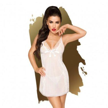 Elegans-csabitas-feher-atlatszo-szexi-ruha-L/XL