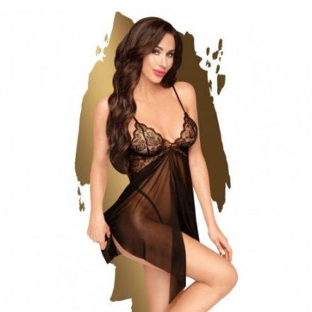 Edes-vadmacska-fekete-szexi-ruha-L/XL