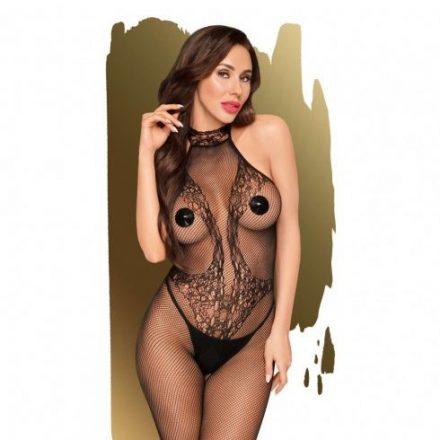 Fekete-nyakpantos-atlatszo-szexi-csipke-ruha-S-L