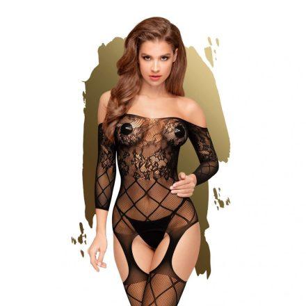 Fekete-csipkes-atlatszo-teljes-testes-szexi-ruha-X