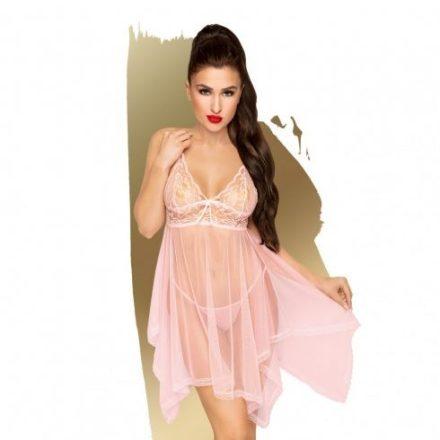 Szemtelen baba rózsaszín felül csipkés szexi ruha S/M