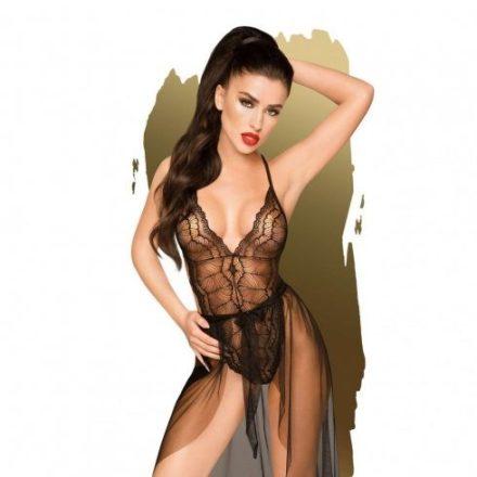 Tökéletes előjáték csipkés fekete szexi ruha M/L